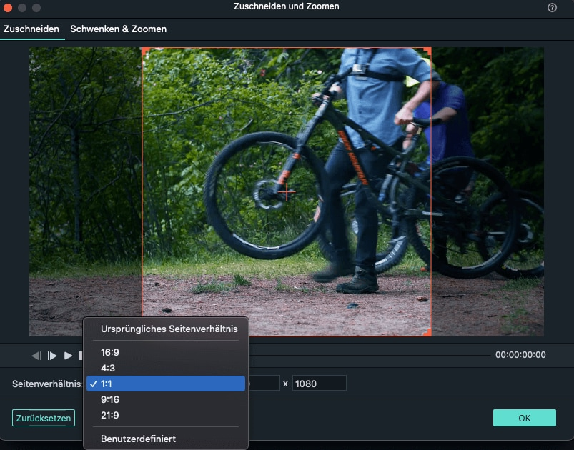 change aspect ratio in Crop&Zoom interface