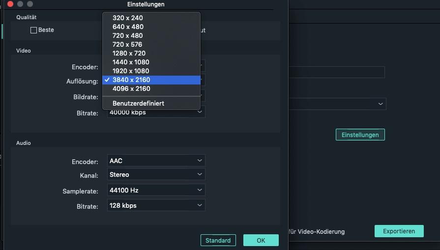 Filmora Support  4K video Editing