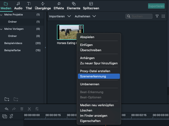 select scene detection
