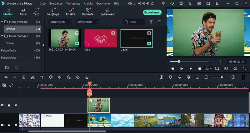 greenscreen video bearbeiten