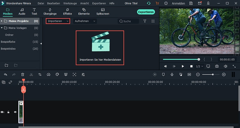 Importieren Sie Videos zum AVI komprimieren