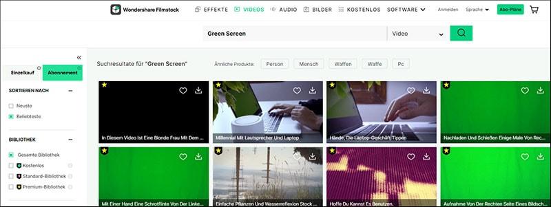 greenscreen stock video in filmstock
