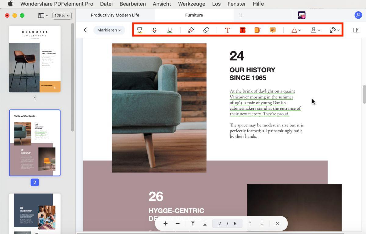 pdf-notizen hinzufügen auf dem mac