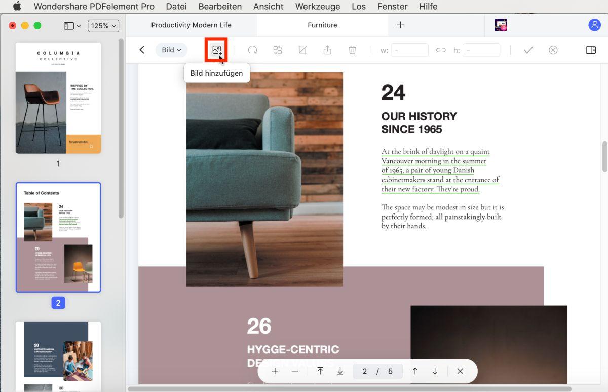 Bild in PDF einfügen Mac