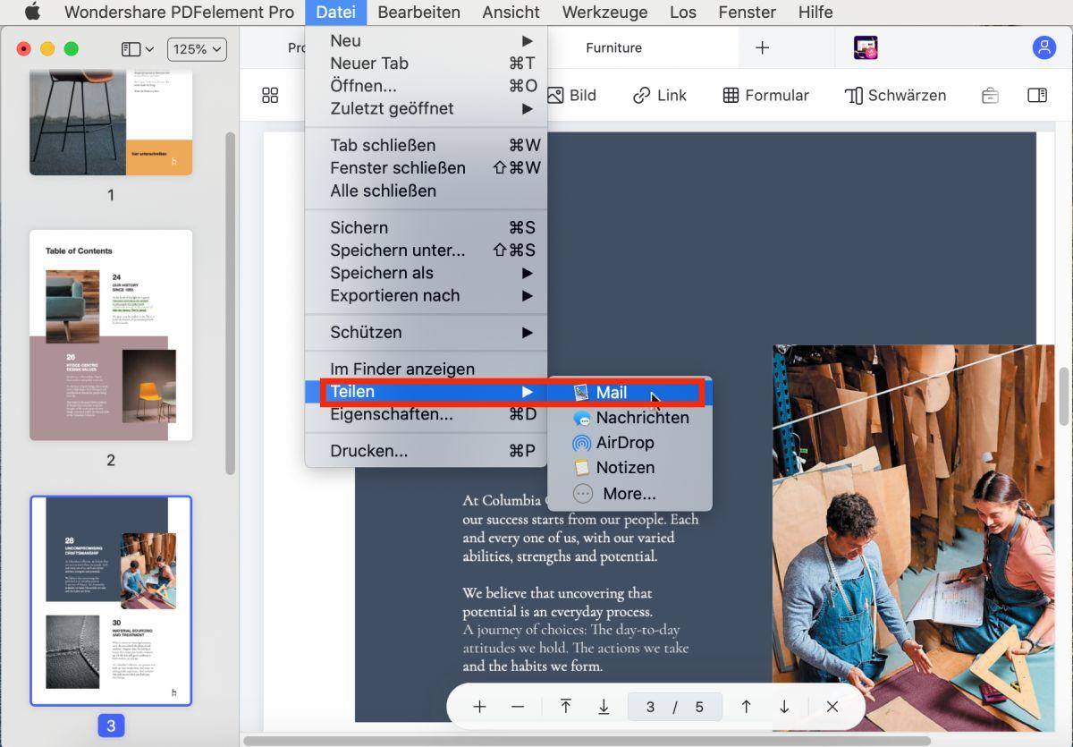 Größenänderung der PDF-Dimensionen bei Mac