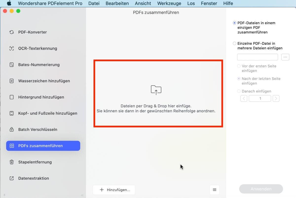 mac vorschau pdf zusammenfügen