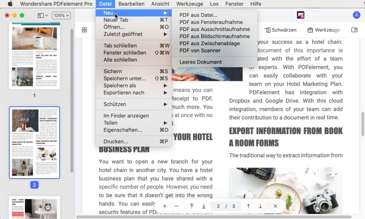 pdf erstellen in der Vorschau
