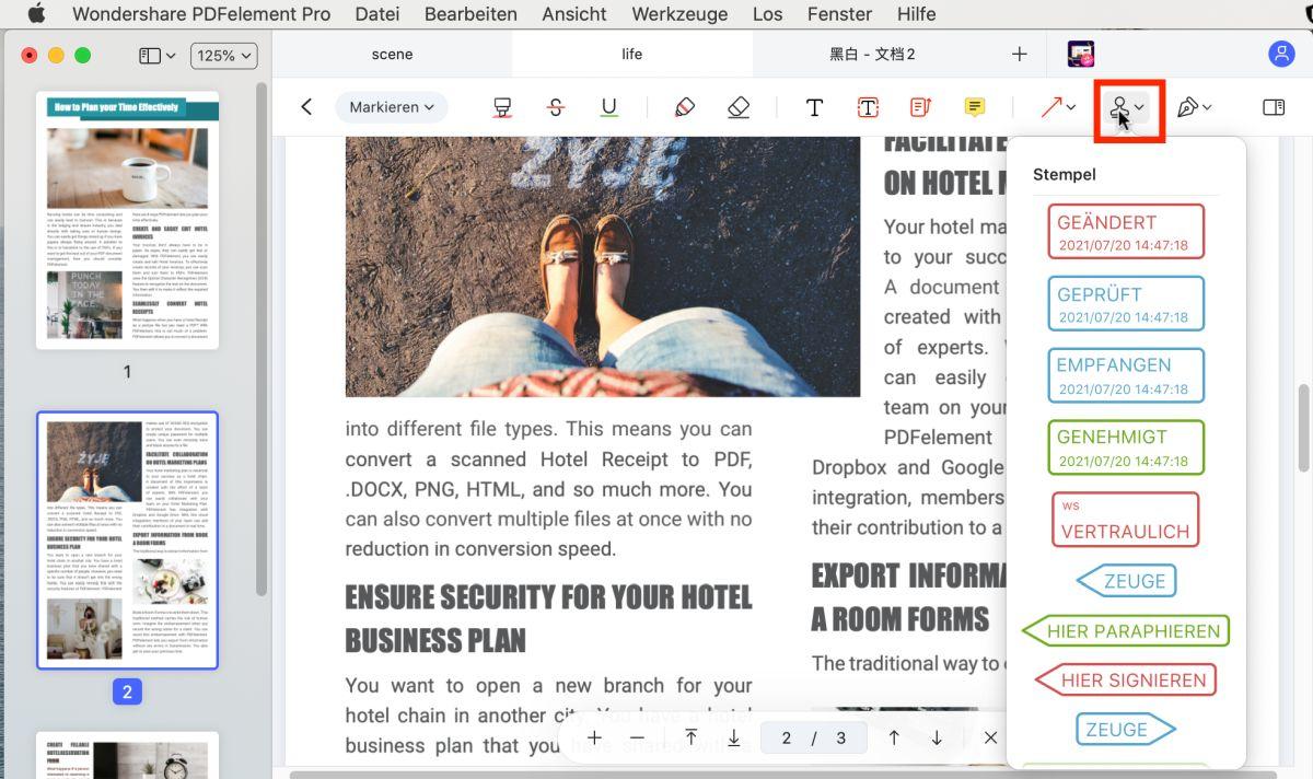 pdf markieren mac