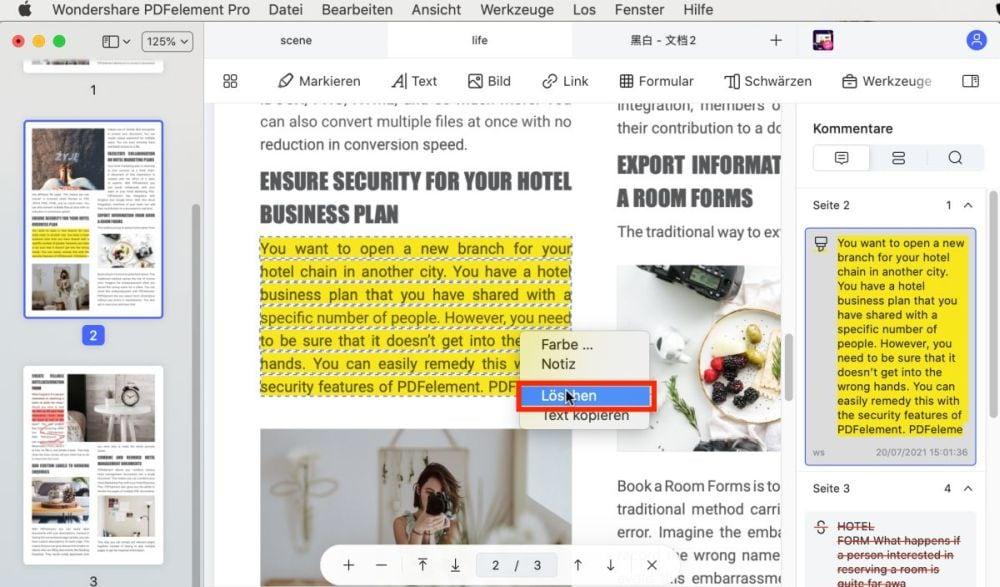 haftnotizen zu pdf-dateien hinzufügen mac