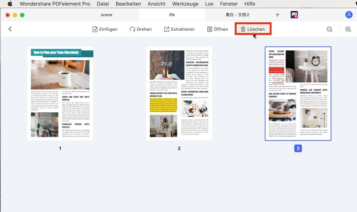 PDF Seitengrösse bearbeiten