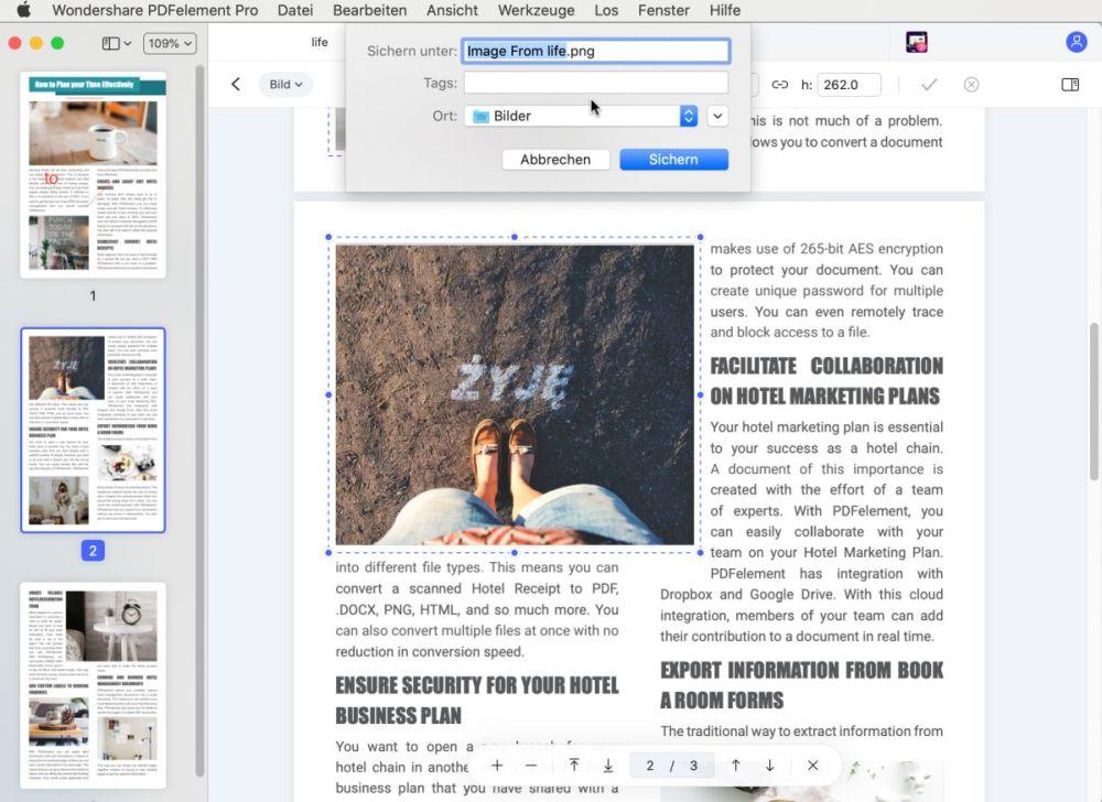 Wie man Bilder von PDF auf Mac entnimmt