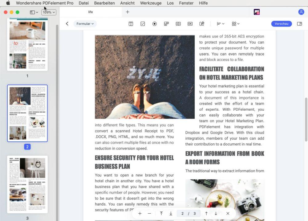 Vorschau PDF-Formular ausfüllen