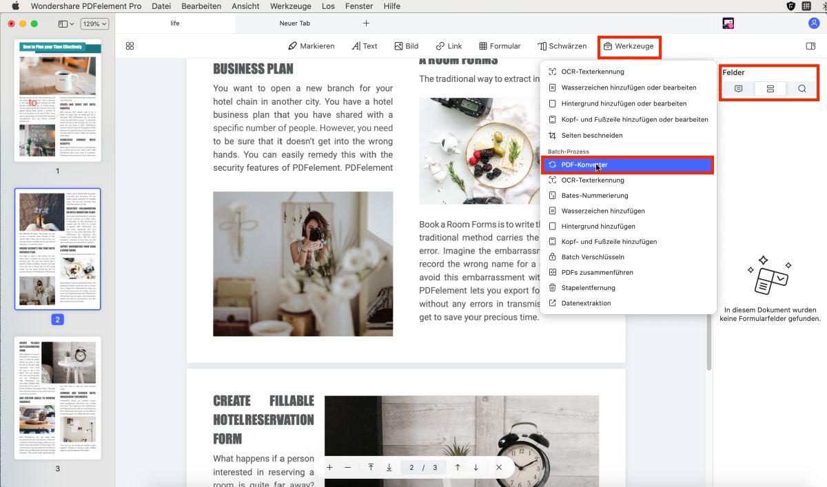 pdf in Word umwandeln auf mac