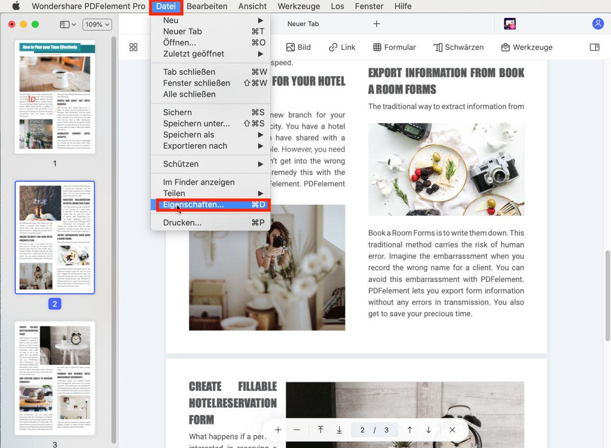 Metadata aus PDF entfernen mac