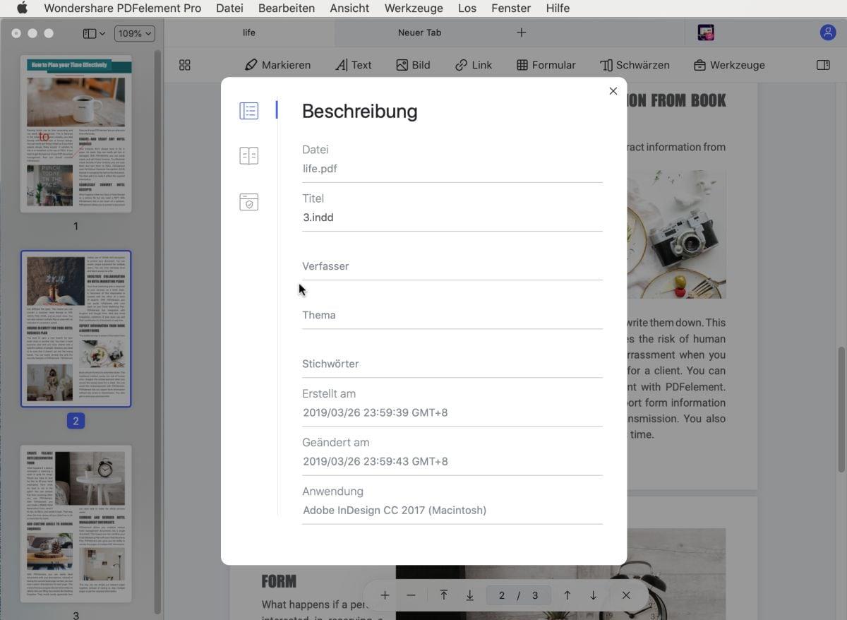 metadaten aus pdf entfernen acrobat dc