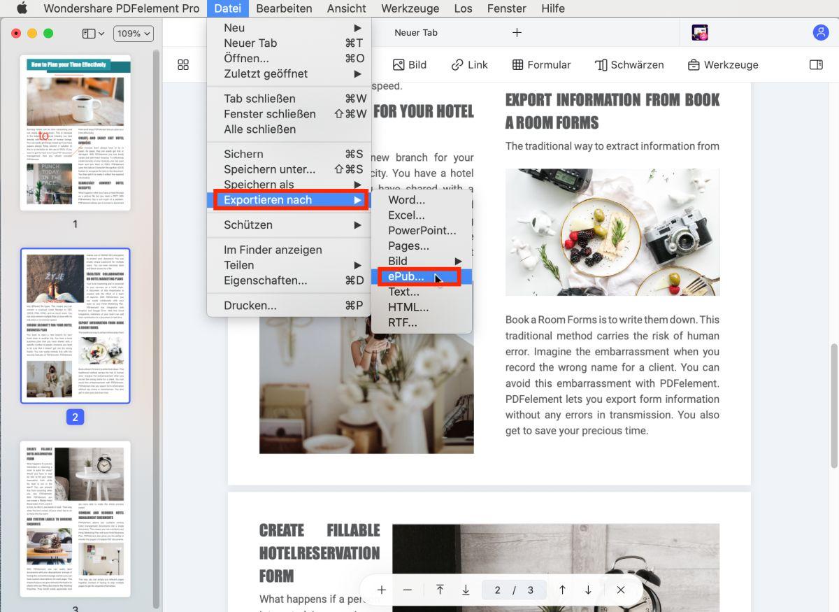 pdf zu epub Konverter Mac