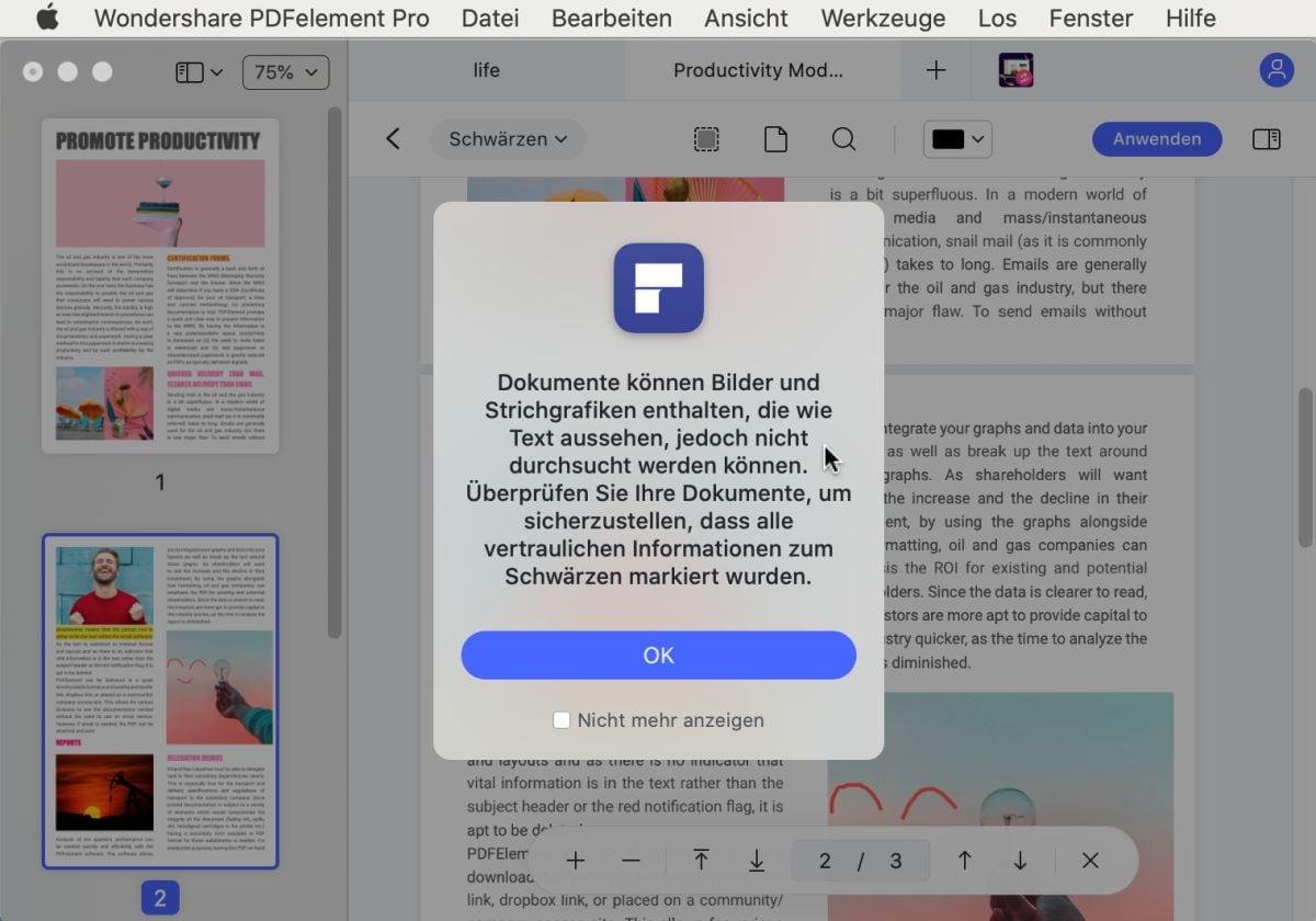 pdf schwärzen mac