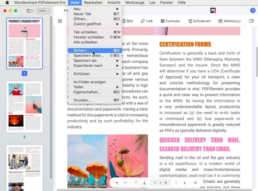 Vorschau als pdf speichern