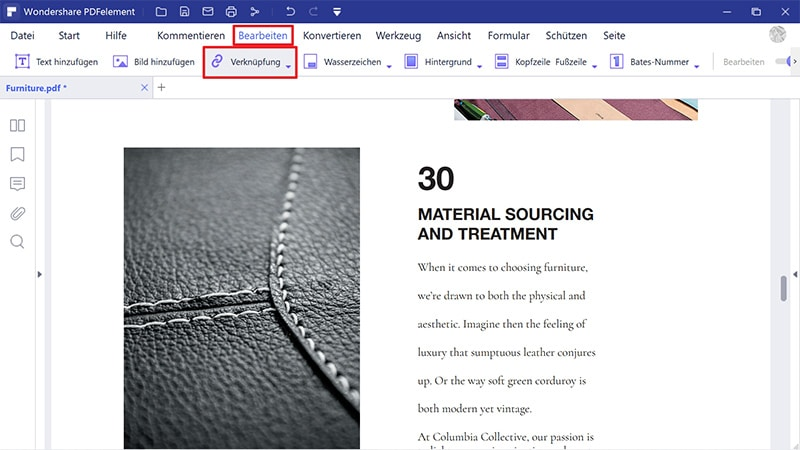 So erstellen Sie einen Hyperlink in PDF