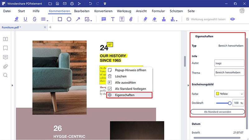 Wie man einen Bereich im PDF hervorhebt