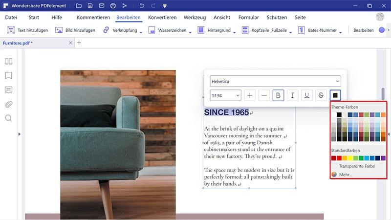 pdf Schriftfarbe online ändern