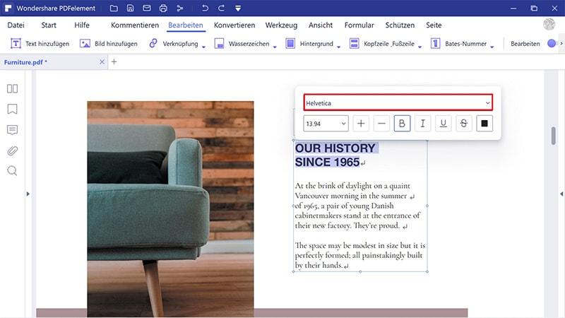 pdf-Schriftart ersetzen