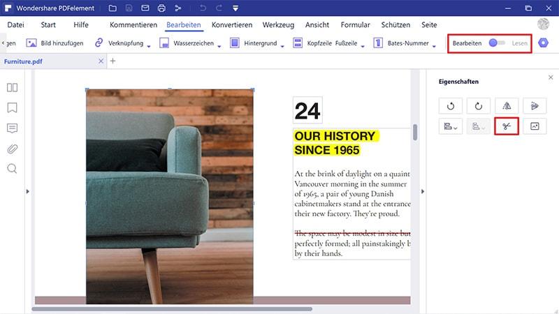 Objekte im pdf-Format bearbeiten