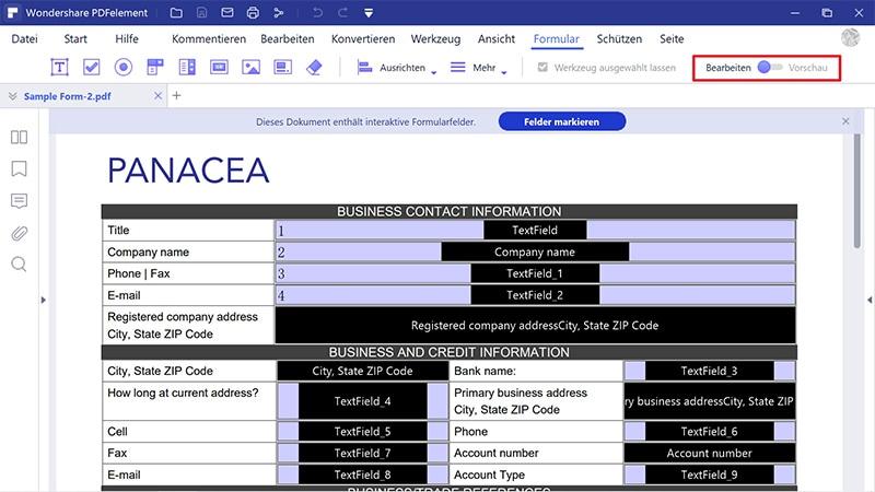 wie man ein editierbares pdf-Formular erstellt
