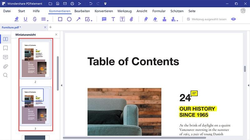 PDF Seiten neu anordnen