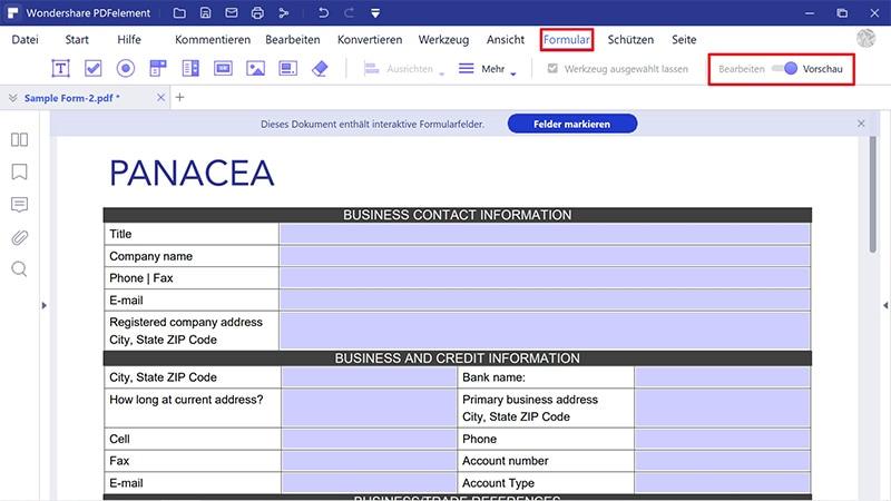 wie Sie ein editierbares pdf-Formular erstellen