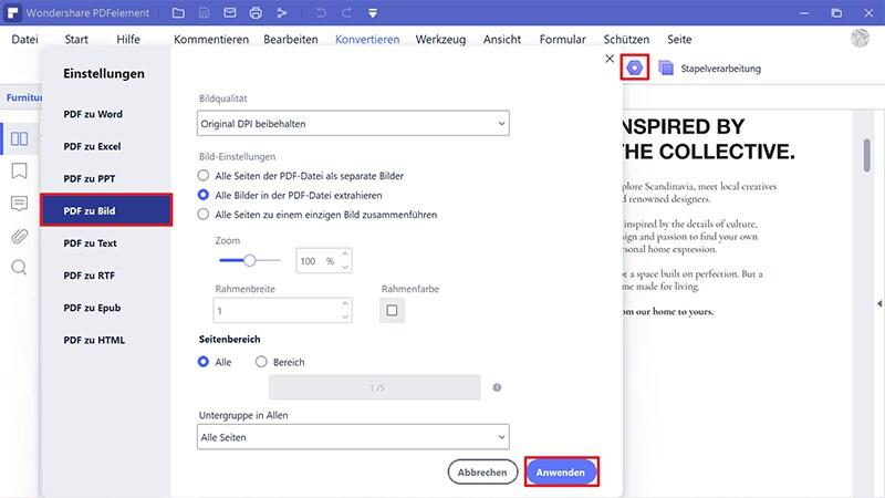 pdf zu bild exportieren online