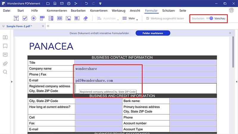 PDF-Formulare bearbeiten