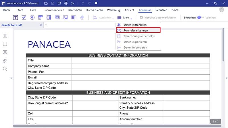 schriftgröße im pdf formular ändern