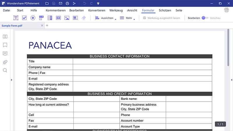 PDF in Formular konvertieren