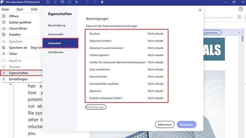 So speichern Sie PDF als schreibgeschützt