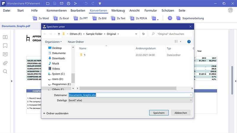 PDF-Datei auf Excel übertragen