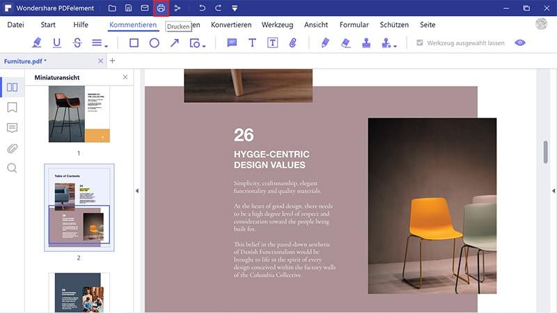 Drucken als PDF auf dem iPad