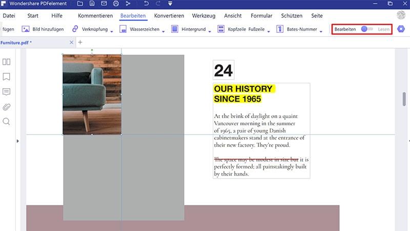 PDF Bilder entfernen