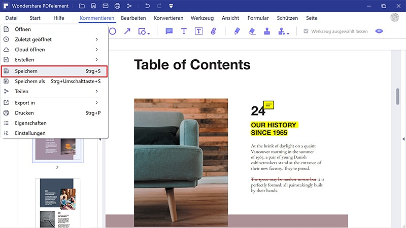 mehrere word-dokumente in pdf