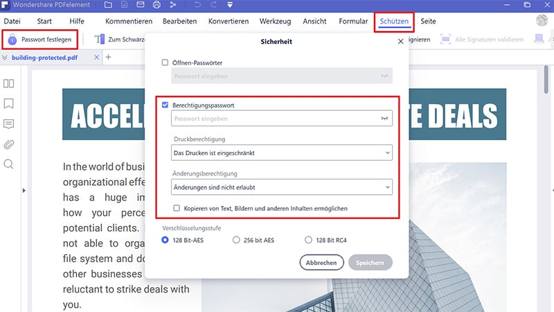 Wie man PDF schreibgeschützt macht
