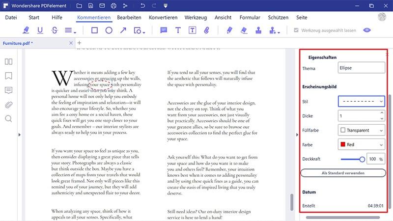 Form im PDF einfügen