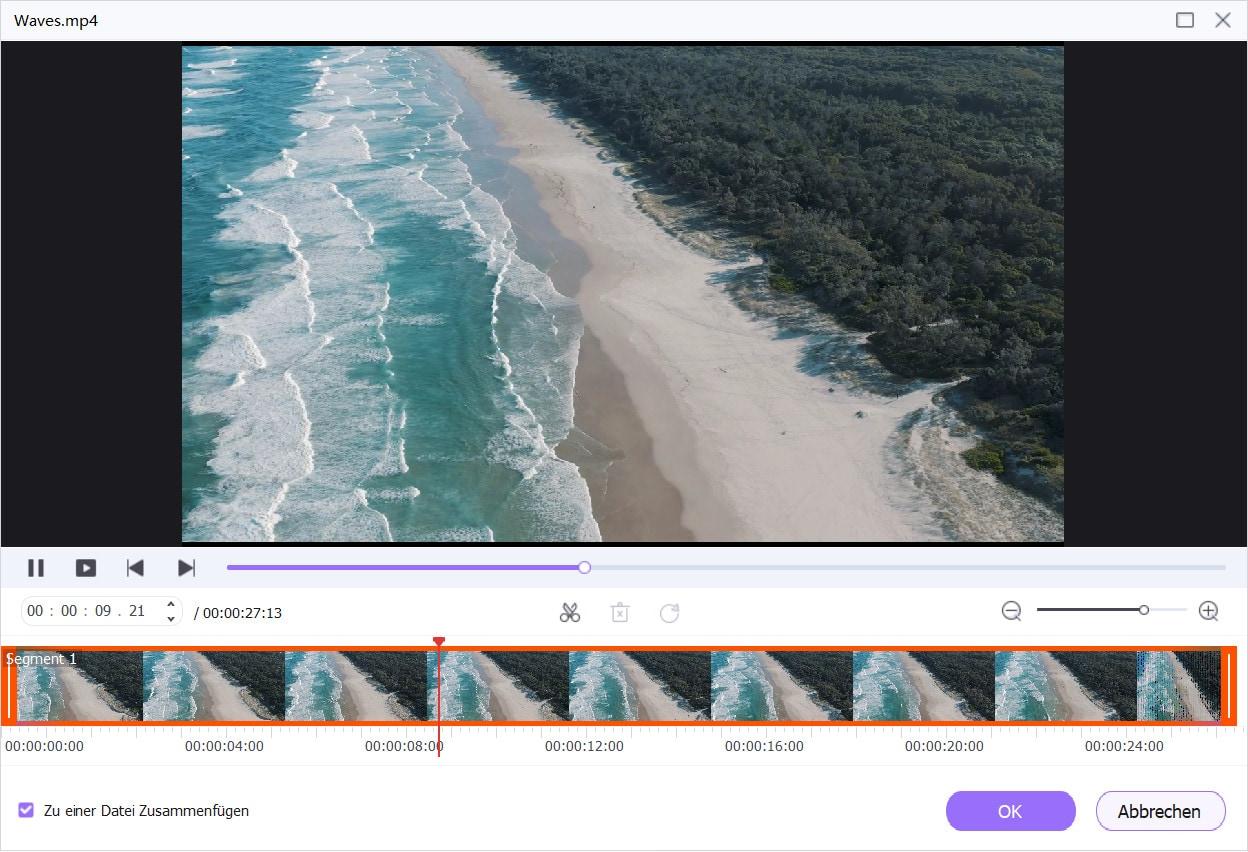Das 4K-Video bearbeiten