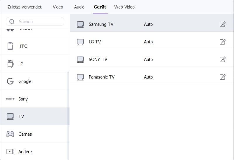 Bester Video Konverter unterstützt Video-Voreinstellungen für unterschiedliche Geräte