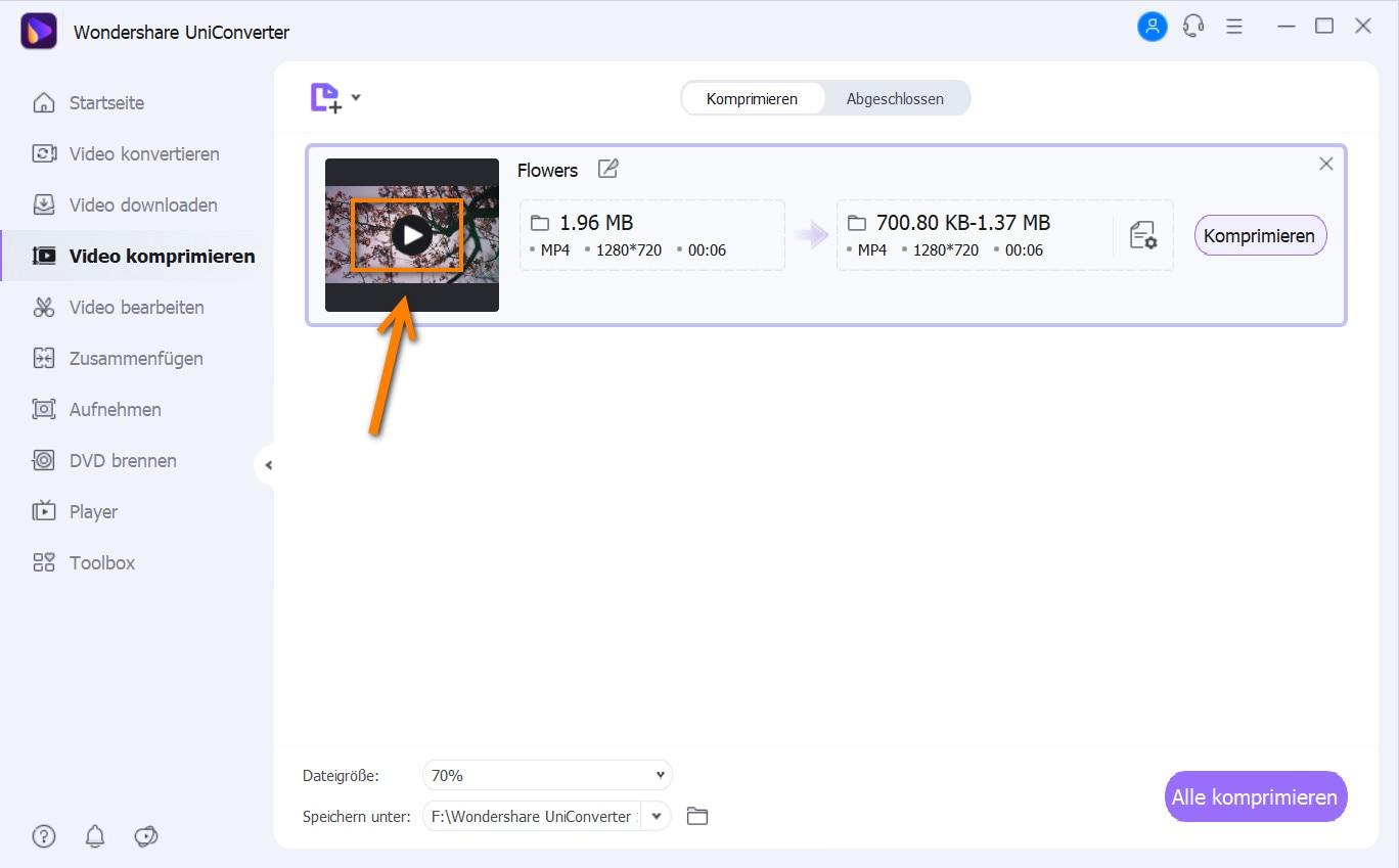 Videos mit der Windows Media Player Alternative komprimieren