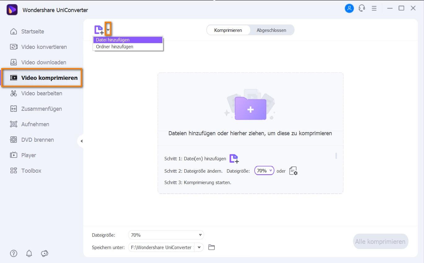 QuickTime Video in UniConverter laden
