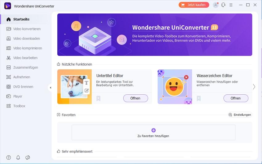VirtualDub Alternative - UniConverter