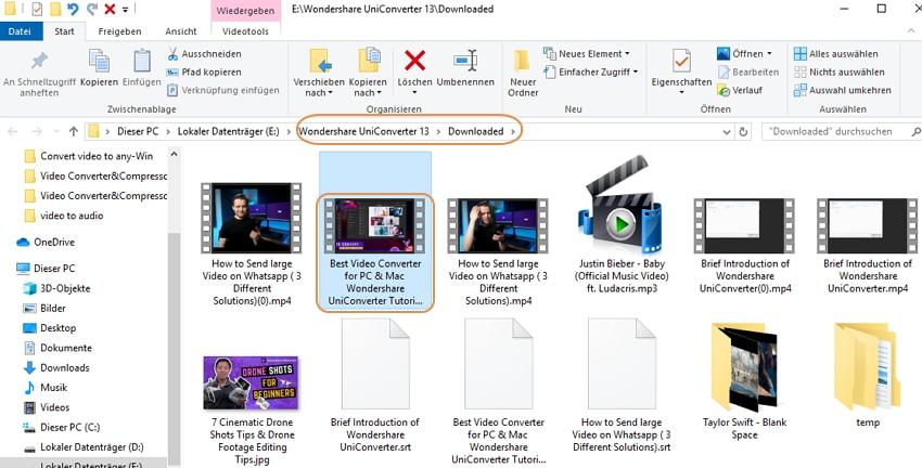 Tipps um die heruntergeladenen Videos zu verwalten