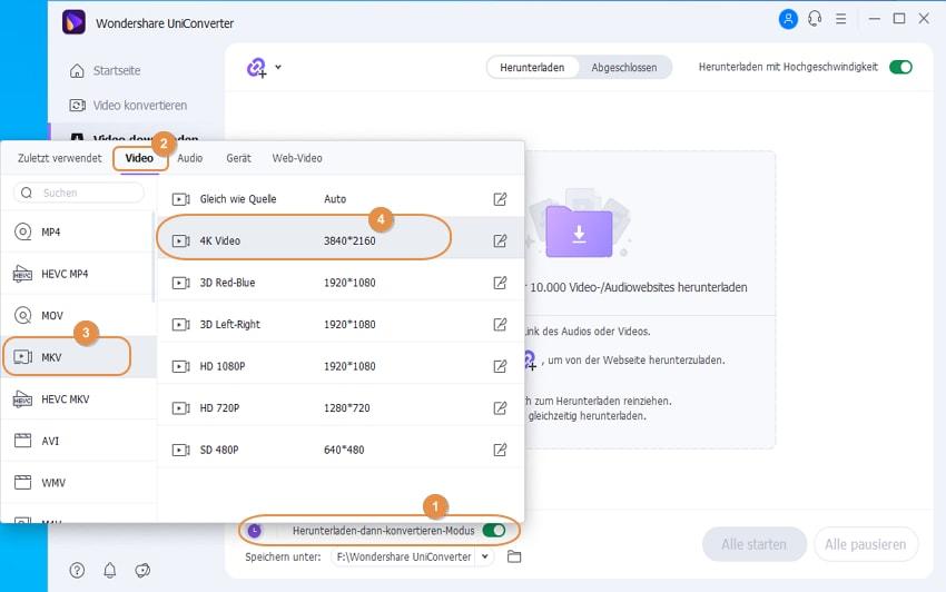 Tipps für die Aktivierung des Download und konvertieren Modus
