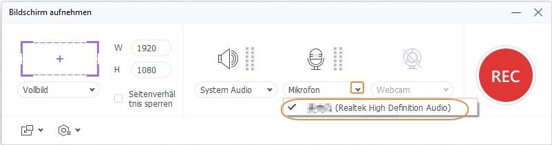 Audio-Präferenz einstellen