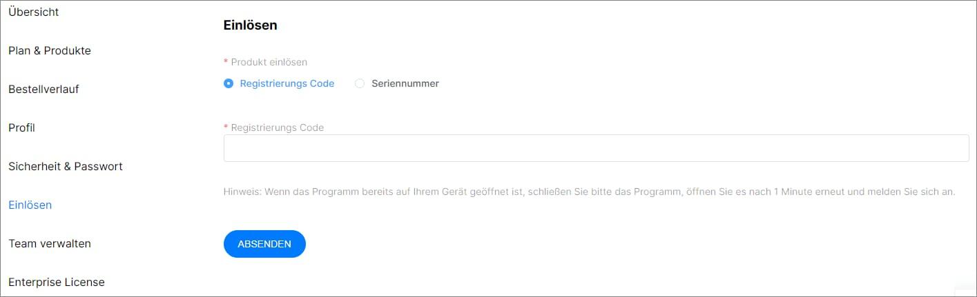 UniConverter Wondershare ID einlösen